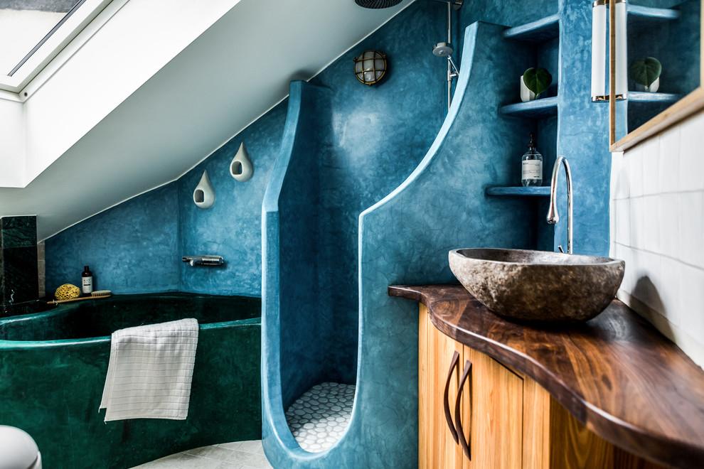 Inspiration för ett medelhavsstil badrum