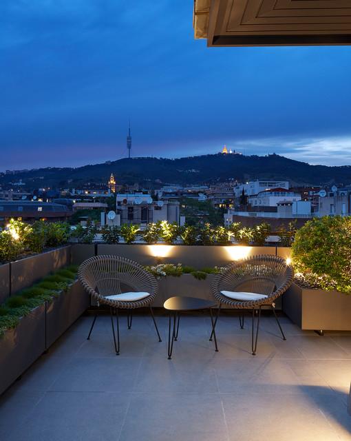 Vivienda urbana tico d plex barcelona contemporaneo - Atico duplex barcelona ...