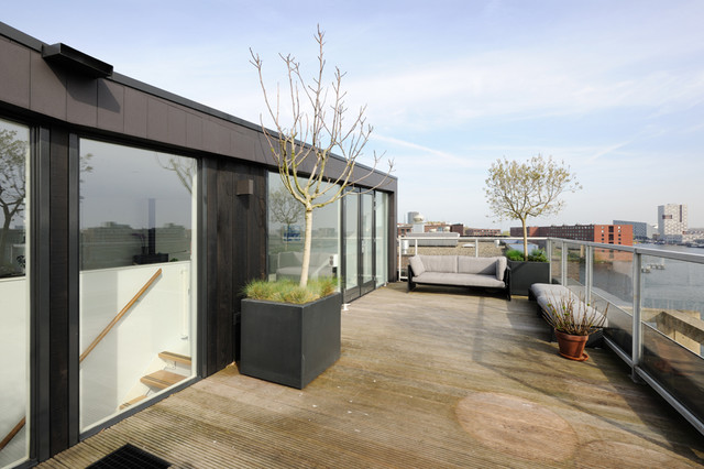 Modern Large Balconies Apartment Extension On Roof Contemporary Balcony Amsterdam By