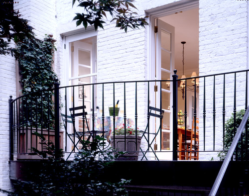 Big design ideas for small balconies for Traditional balconies
