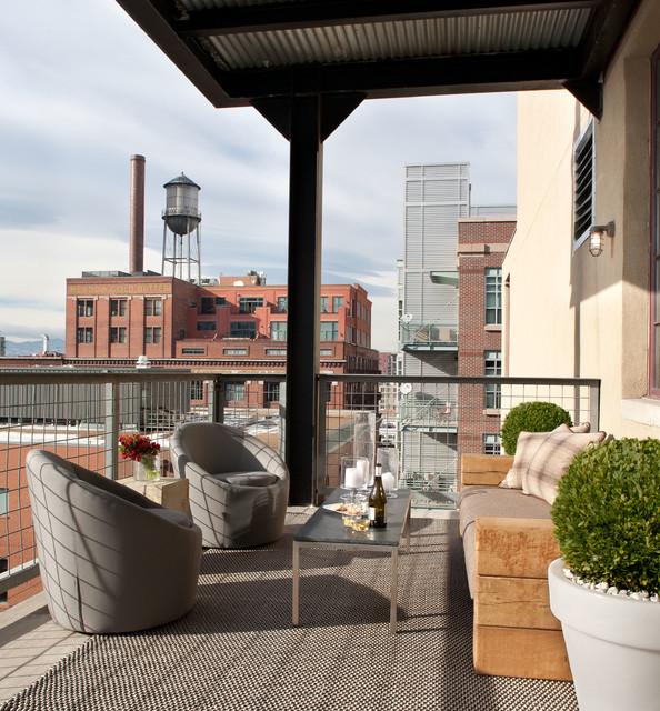 Village interior design llc interior designers decorators - City Loft Industrial Terrace Amp Balcony Denver By