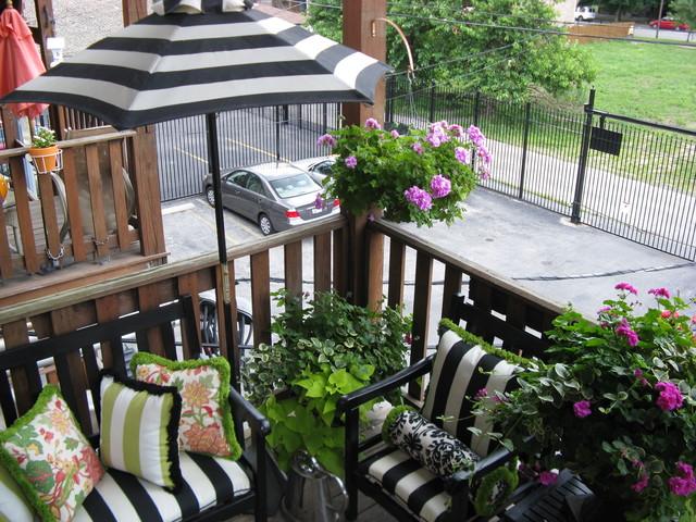 City Porch transitional-porch