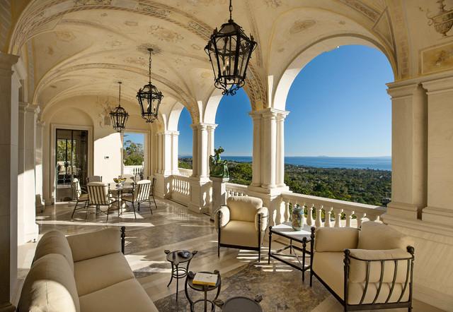 Classic palladian villa in montecito mediterranean for Palladian home designs