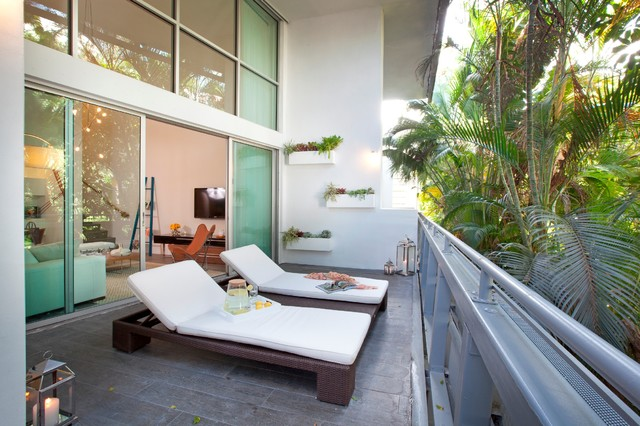 Dkor interiors interior designers miami modern south for Balcony interior design