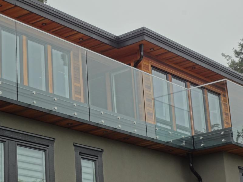 Exterior Glass Railings - Modern - Balcony - Vancouver ...