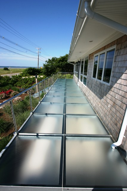 glass deck contemporary porch boston by lucid