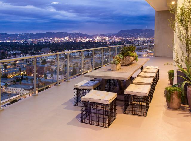Hollywood Penthouse 2303 Contemporary Balcony Los