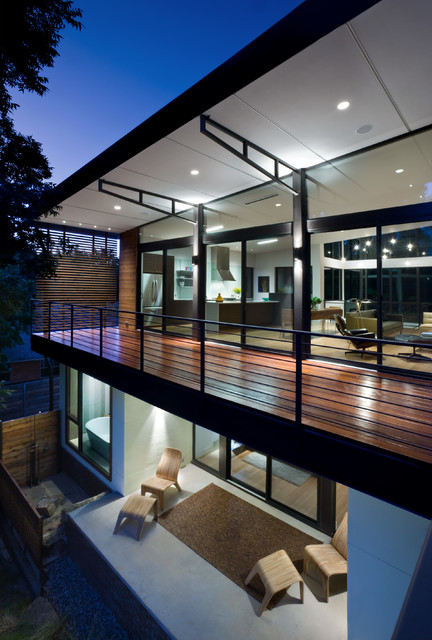 Labron Residence Contemporary Balcony Dallas By