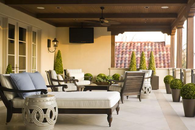Private Residence - Modern Pool & Garden mediterranean-deck