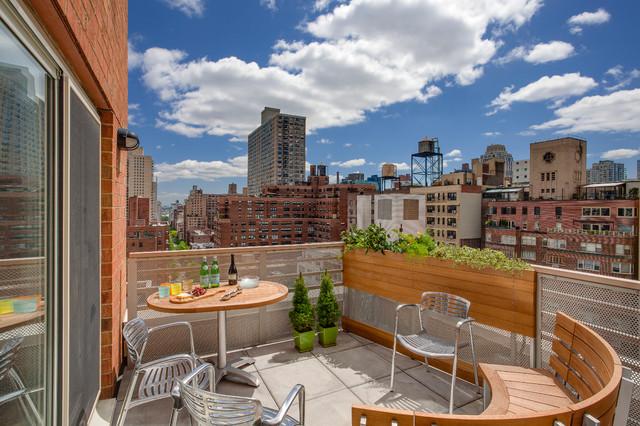 New York Apartment Contemporary Balcony San