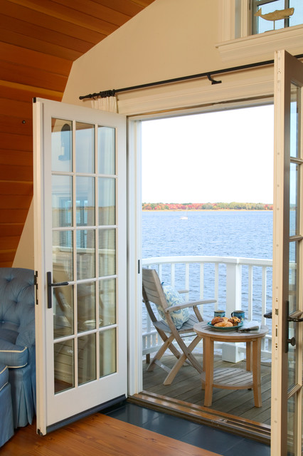 Newburyport Riverside Home - Balcony traditional-deck