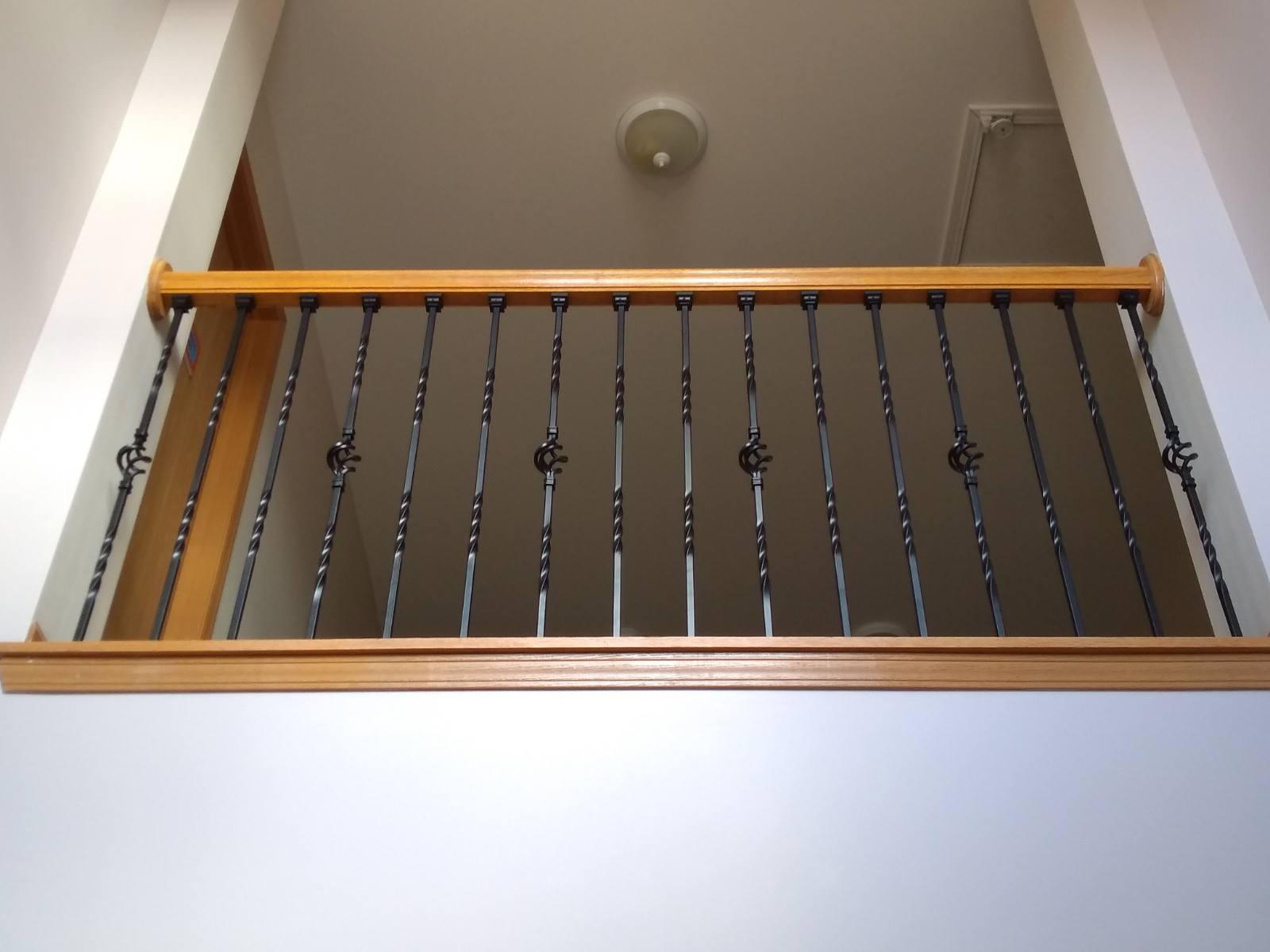 Oak spindles to Steel Balusters