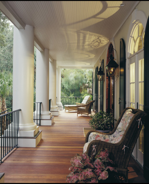 Seabrook island custom residence traditional balcony for Traditional balconies