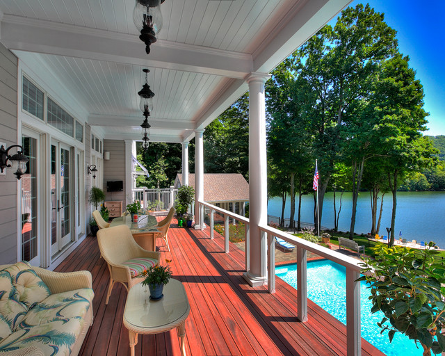 Sherman Lake Home Traditional Balcony New York By