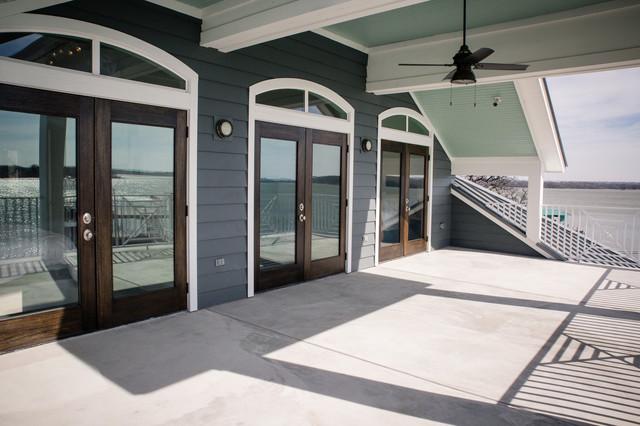 Sunset View Lake House beach-style-balcony