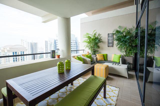 The collonade for Condo balcony ideas singapore
