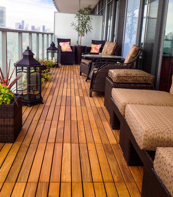 Various condo balconies in toronto contemporary deck for Condo balcony design