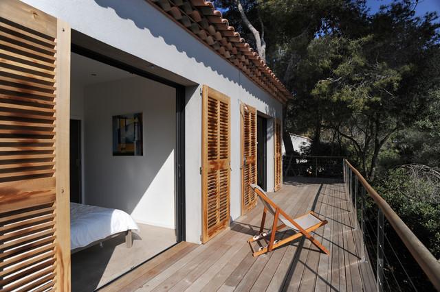 Deux maisons de p cheurs r habilit es et agrandies bord for Maison bois bord de mer