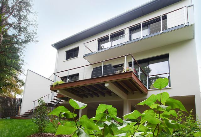 Maison Moderne Design Contemporain Moderne Balcon Paris Par France Maisons Constructeur Maitre D œuvre