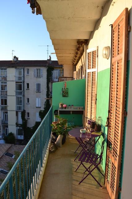 m diterran en terrasse et balcon. Black Bedroom Furniture Sets. Home Design Ideas