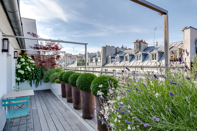 Vorher nachher ein balkon ber den d chern von paris bl ht auf - Terrazzi di design ...