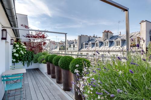 Stil- Schau: Think big! Blumenkästen auf dem Balkon – Gartengestaltung auf engstem Raum in Paris, vorgestellt in Houzz Design