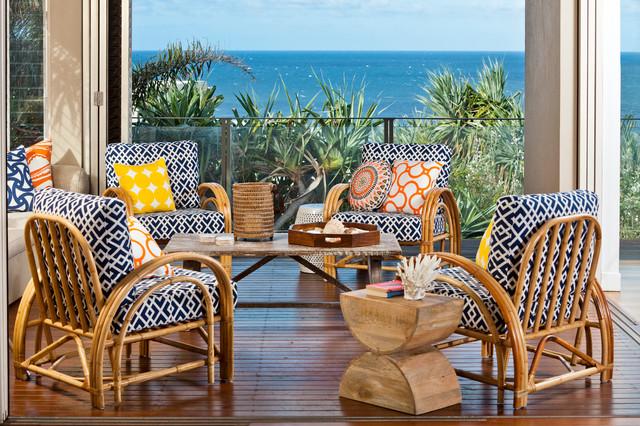 Beach House Tropical Balcony