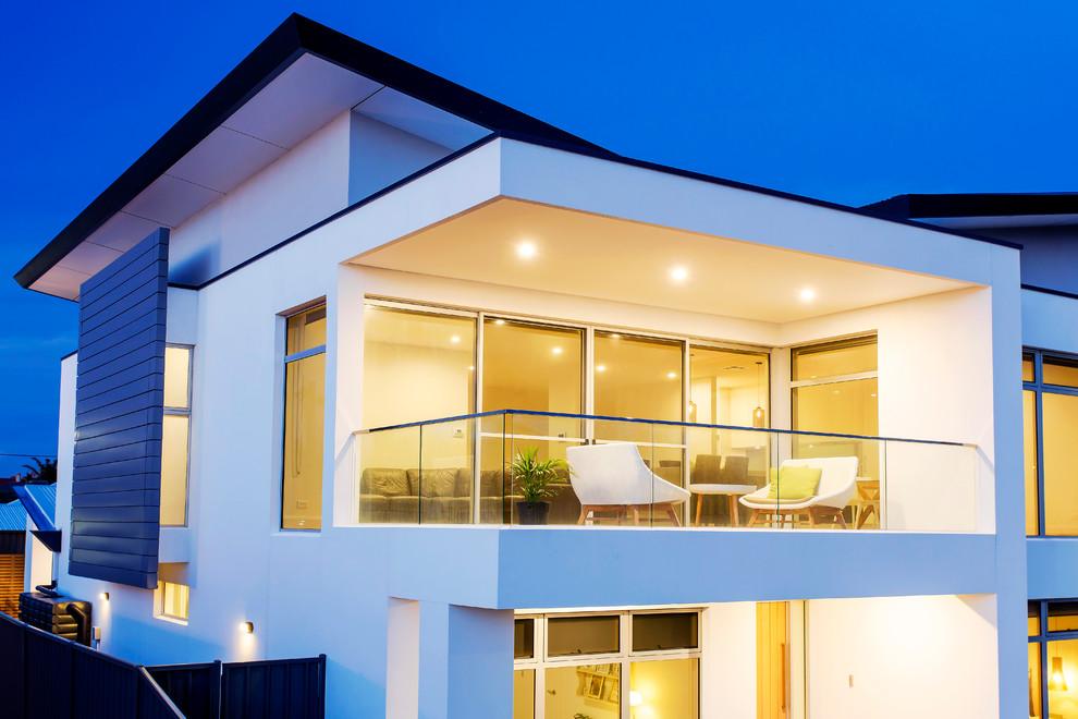 Brighton Butterfly Roof Modern Balcony Adelaide By Designtech Studio