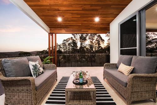 Outdoor rug in styling outdoor area