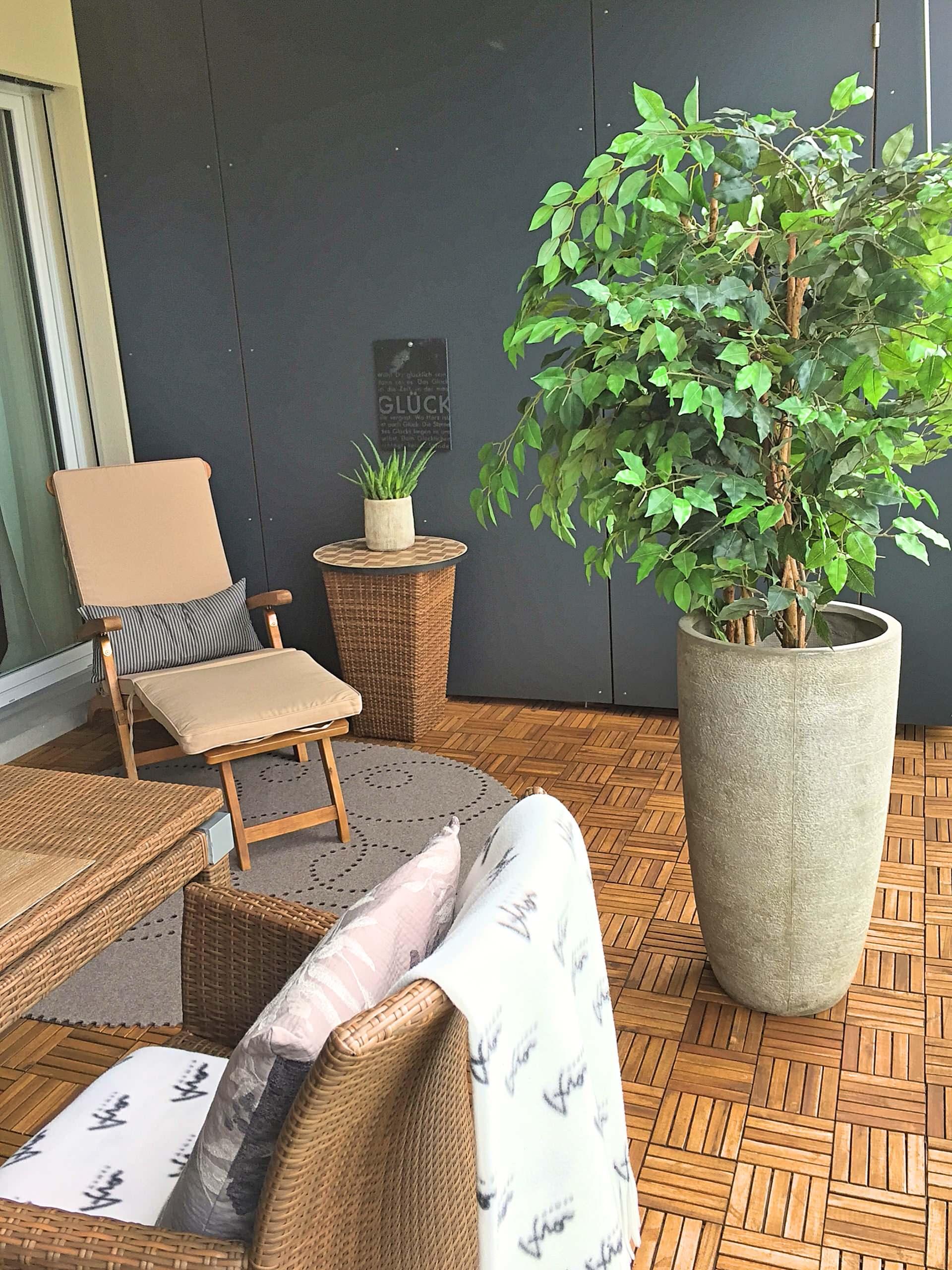 Homestaging Balkon Musterwohnung