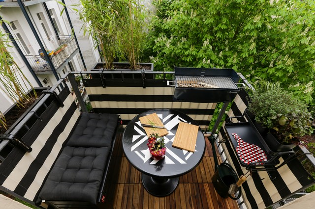 umgestaltung balkon 2qm modern terrasse other metro. Black Bedroom Furniture Sets. Home Design Ideas