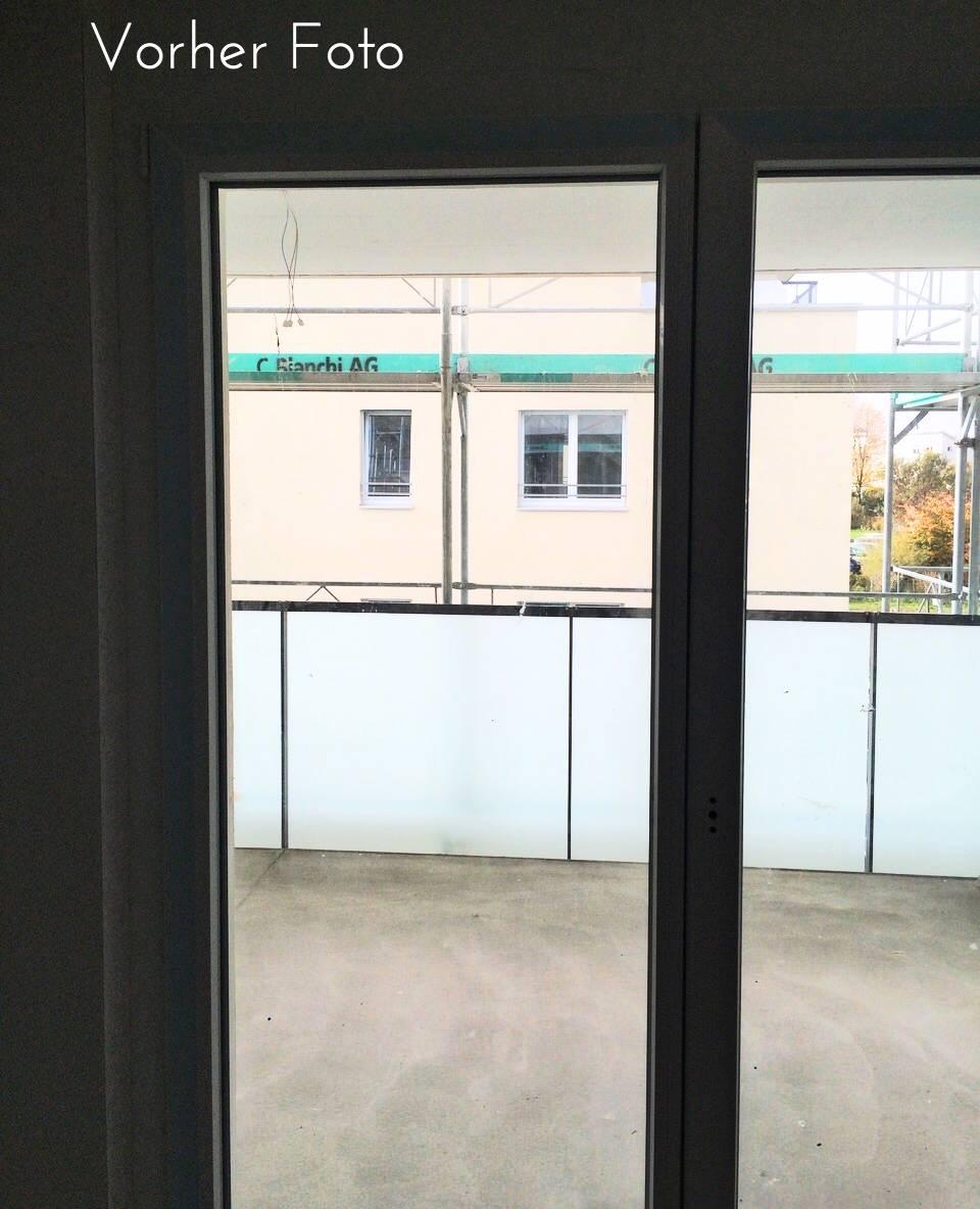 Vorher Foto Balkon Musterwohnung