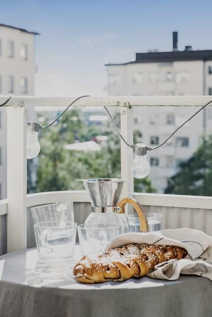 Idéer för en skandinavisk balkong