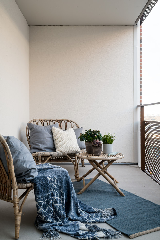 Photo of a scandi balcony in Stockholm.