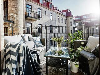 Балконы и лоджии в скандинавском стиле фото - 200, идеи диза.