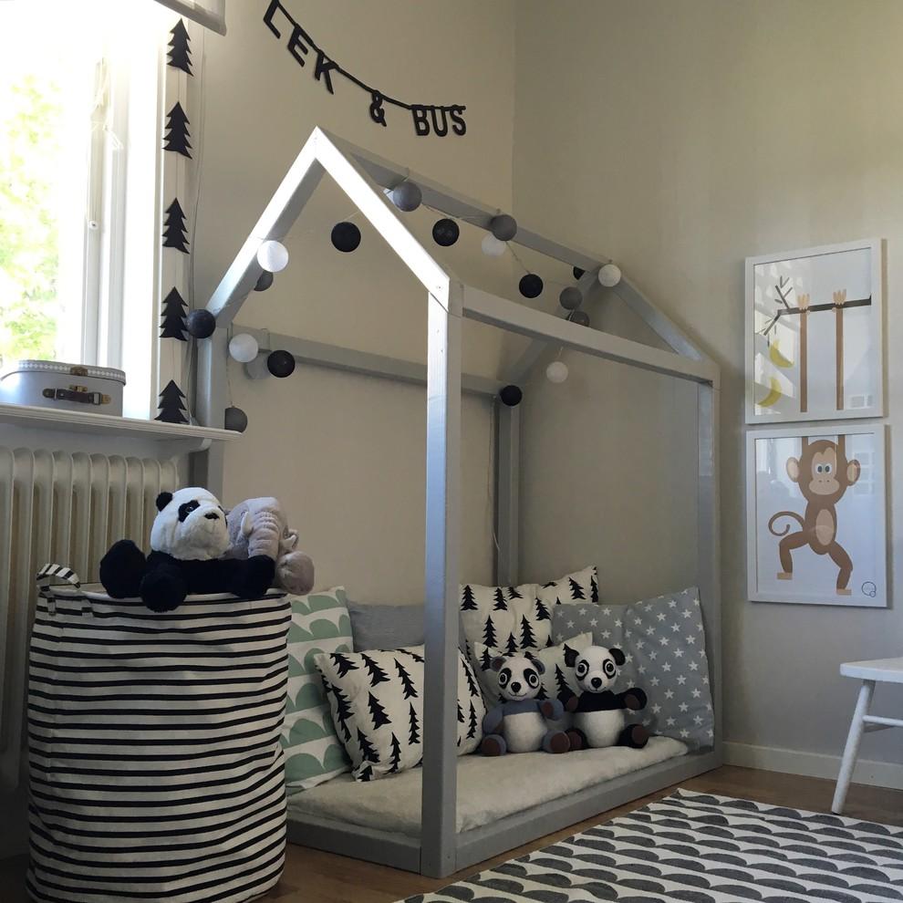 儿童房米色细节北欧风格装修设计图片