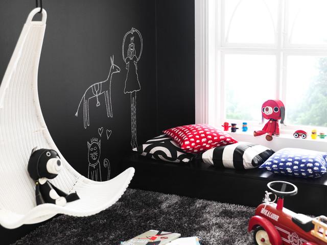 儿童房背景墙现代风格装潢图片