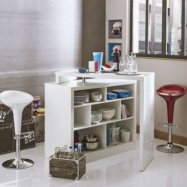Chock bar table moderne bar de salon autres for Meuble de cuisine alinea