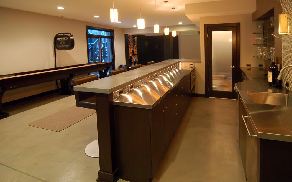 餐厅吧台现代风格装潢设计图片