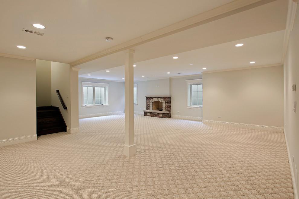 Basement - traditional basement idea in Chicago