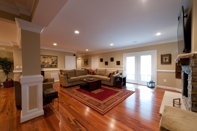 A Home in the Basement Adds Space for Family in Ashburn, Virginia contemporary-basement