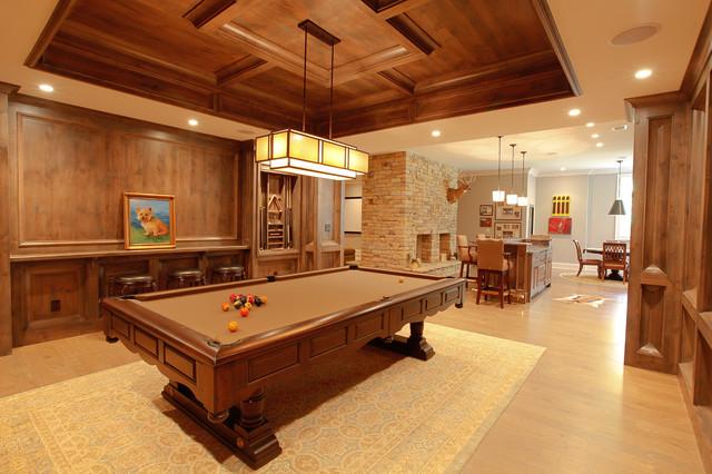 A Lake Home transitional-basement