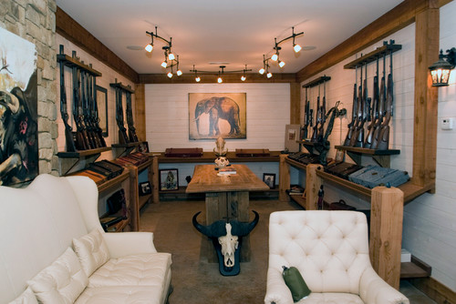 Home design for the hardcore doomsday prepper in all of us for Home gun room