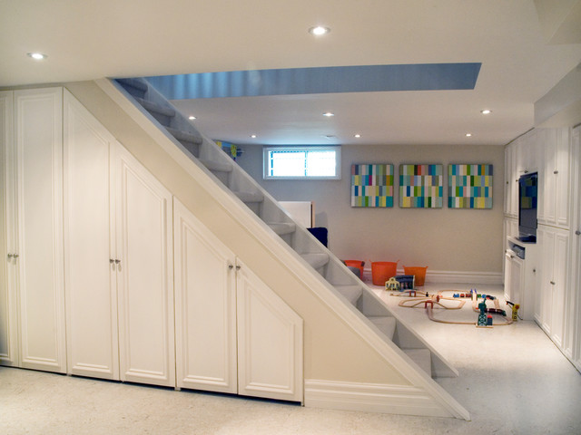 Addition and full remodel, Cabbagetown, Toronto, ON contemporary-basement