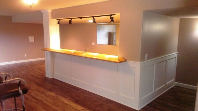 Affordable Basement Wet Bar Modern Kansas City By Terravest Custom Homes