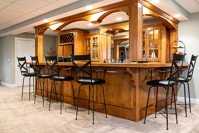 Akron Basement Bar Traditional Basement Other By T