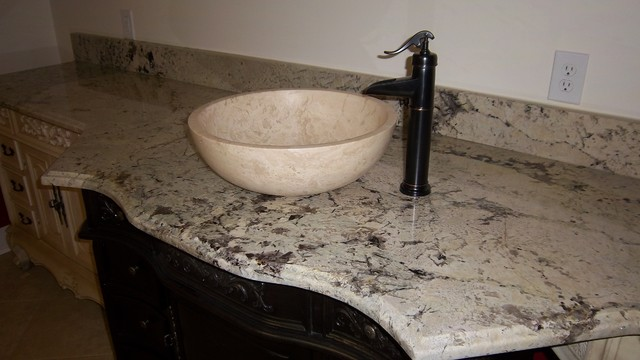 Alaska White Granite Eclectic Basement Atlanta By