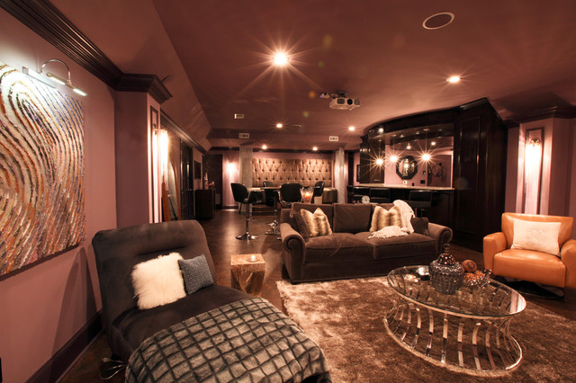 Alpharetta   Basement Renovation turned into a luxury Theatre Lounge Bar  eclectic basementAlpharetta   Basement Renovation turned into a luxury Theatre  . The Living Room Lounge Bar Atlanta. Home Design Ideas