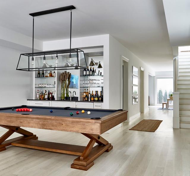 Contemporary Basement Design: Amagansett Beach House