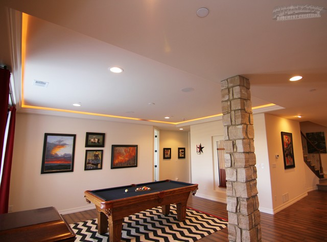 amazing basement in castle rock contemporary basement